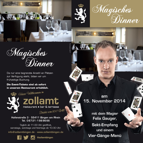 Magisches Dinner am 15.11.2014
