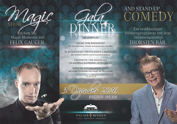 Magic meets Comedy am 03.12.16 im Stadtplais Bingen
